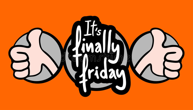 Happy friday vector illustration
