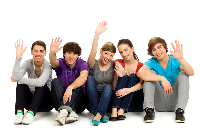 Download Happy Friends stock photo. Image of length, friend, isolated - 14400638