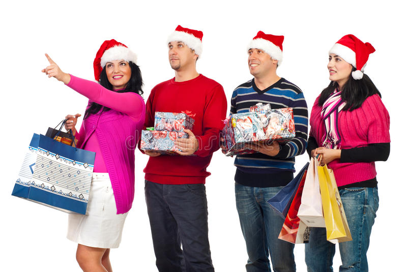 Download Happy Friends With Christmas Shoppings Stock Photo - Image: 16950392