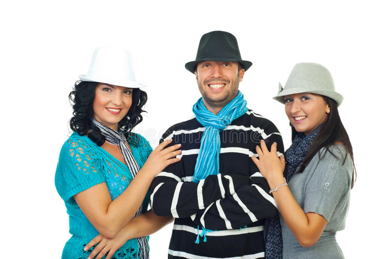 Download Happy Friends With Cool Hats Stock Photo - Image: 16432176