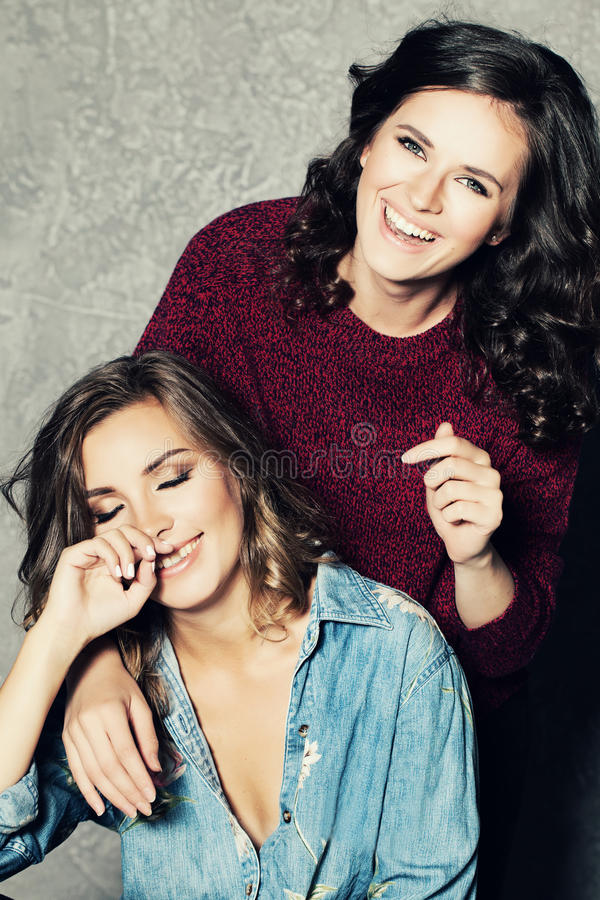 Happy Friends. Laughing Women royalty free stock photos