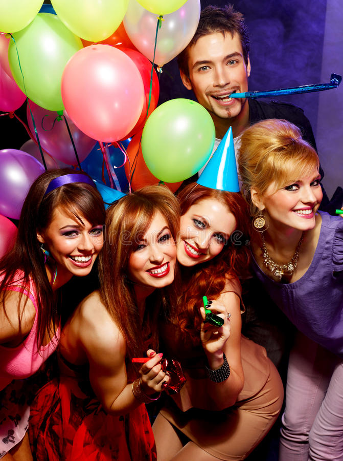 Download Happy friends on a party stock photo. Image of lifestyle - 30344648