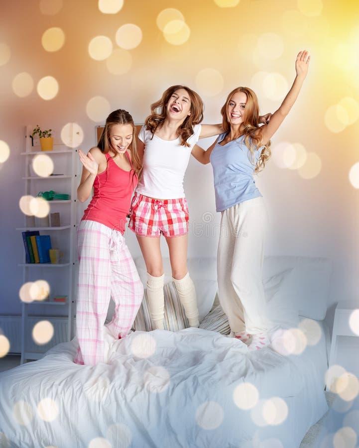 teens having a fun in bed
