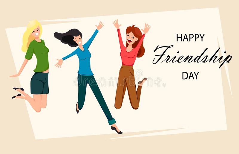 Happy Friendship Day Greeting Card Stock Vector Illustration Of Banner Creative 120969399