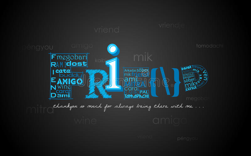 Happy Friendship Day Greetings Stock Photography