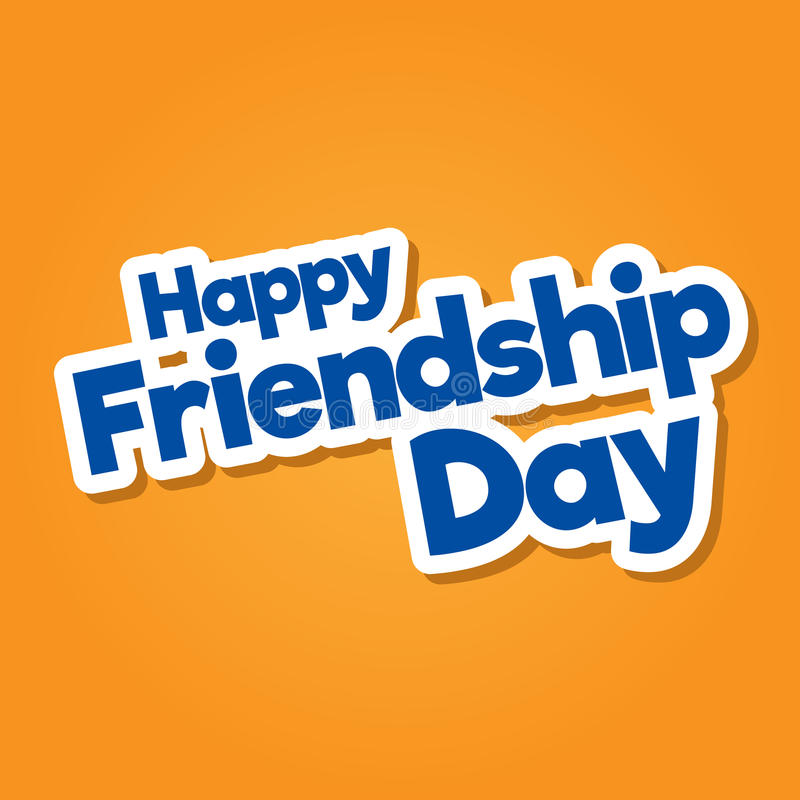 Happy Friendship Day hand drawn vector lettering design stock images