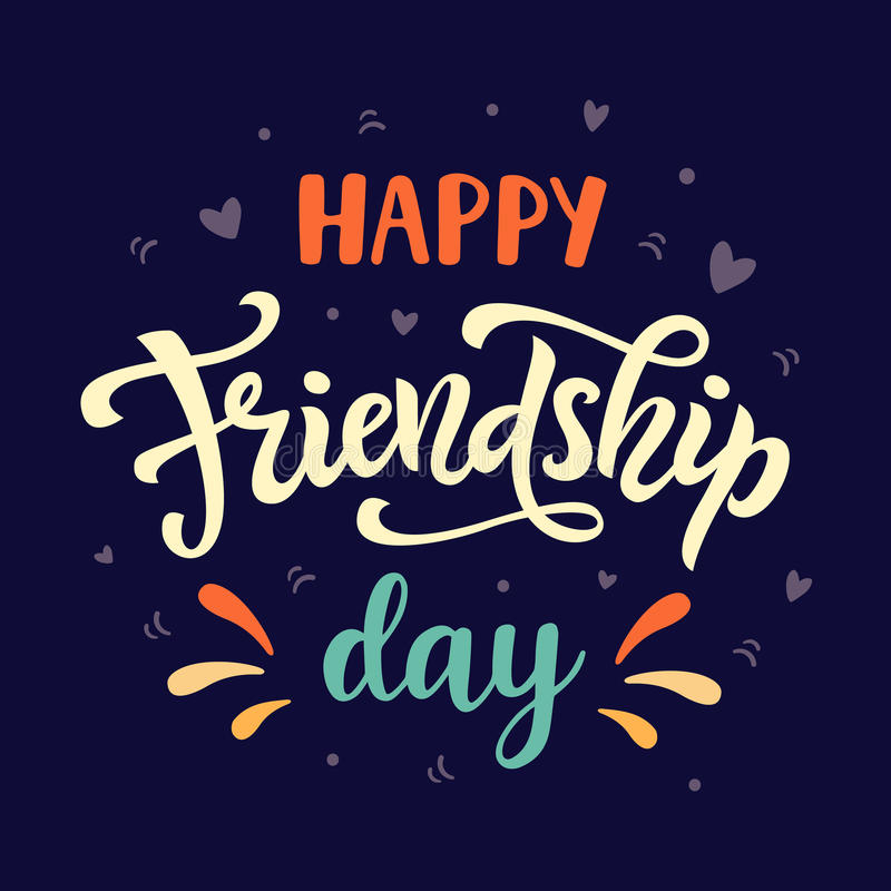 happy friendship day poster stock vector  illustration of