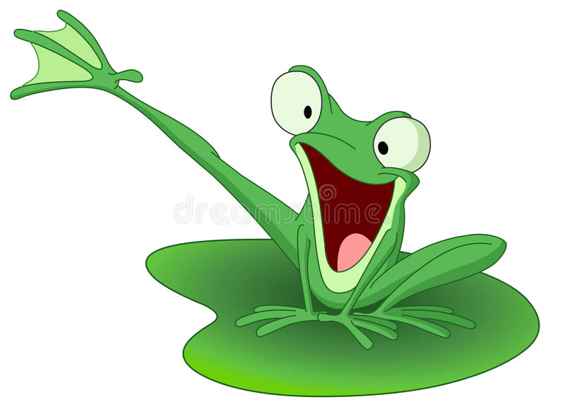 Happy frog vector illustration