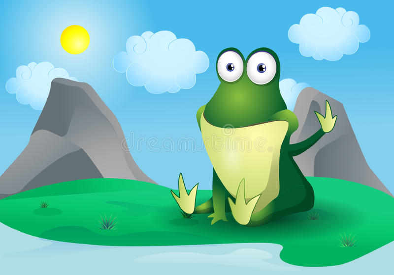 Happy frog stock illustration