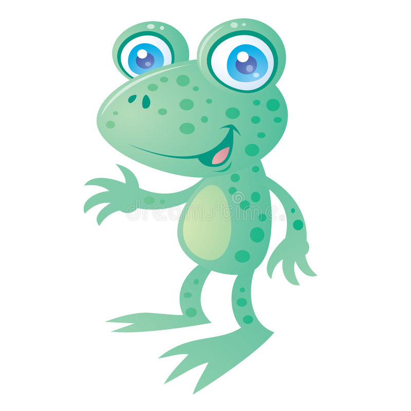 Download Happy Frog stock vector. Image of toad, cheerful, friendly - 9102796