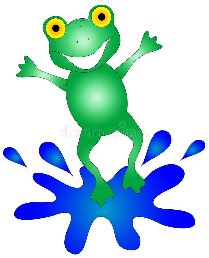 Free Happy Frog Graphic Royalty Free Stock Image - 2897236