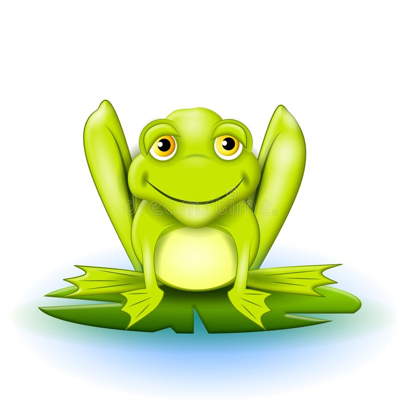 Free Happy Frog On Lilypad Stock Photos - 6438683