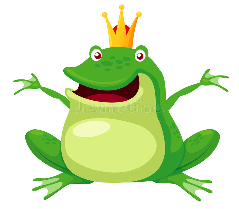 Download Happy frog prince stock vector. Illustration of isolated - 27650079