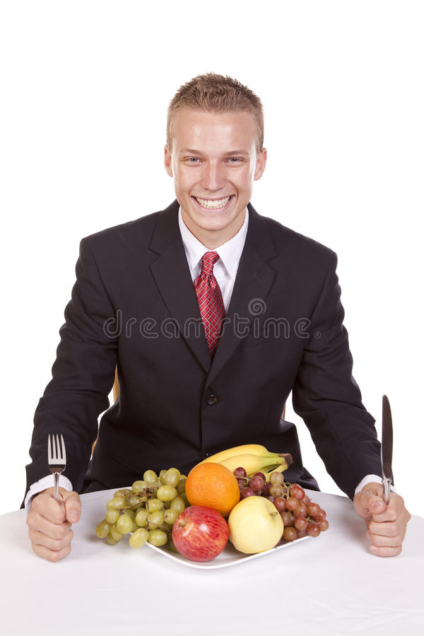 Download Happy with fruit plate stock photo. Image of nutrition - 16195218