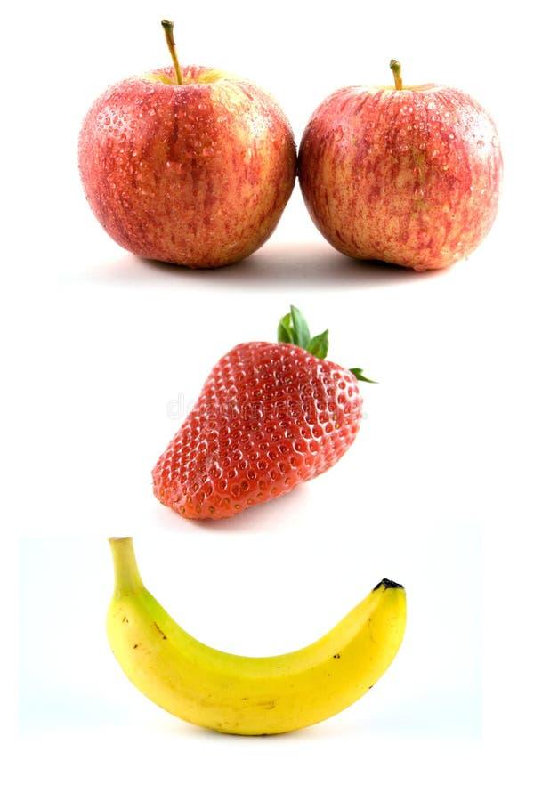 Happy Fruits royalty free stock image