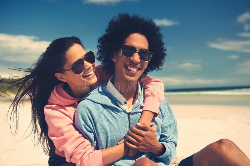 Happy fun couple royalty free stock photography