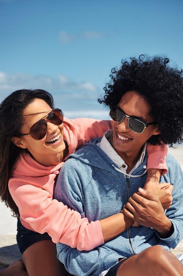 Happy fun couple stock photos