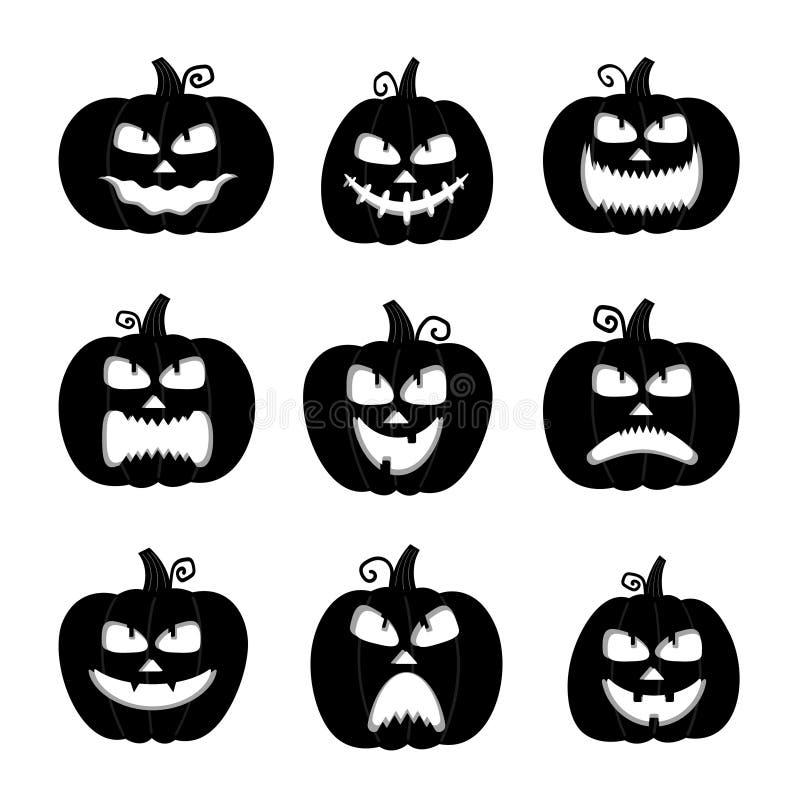 Cute Cartoon Ghost Set. Funny Halloween Character Stock