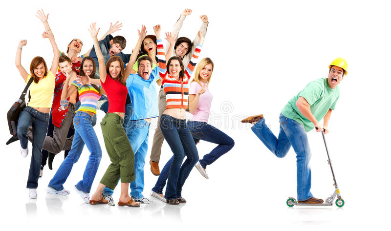Happy funny people royalty free stock photography
