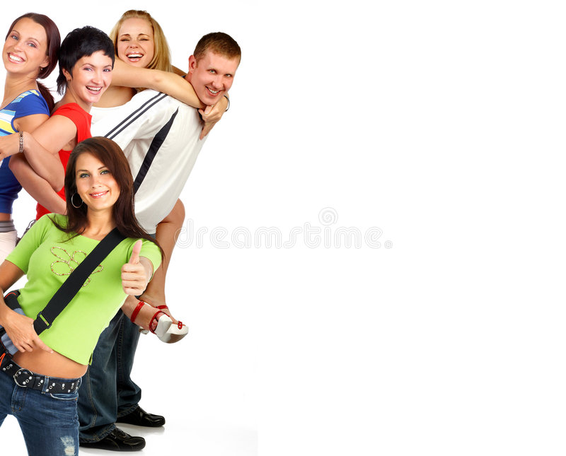 Happy funny people. stock image