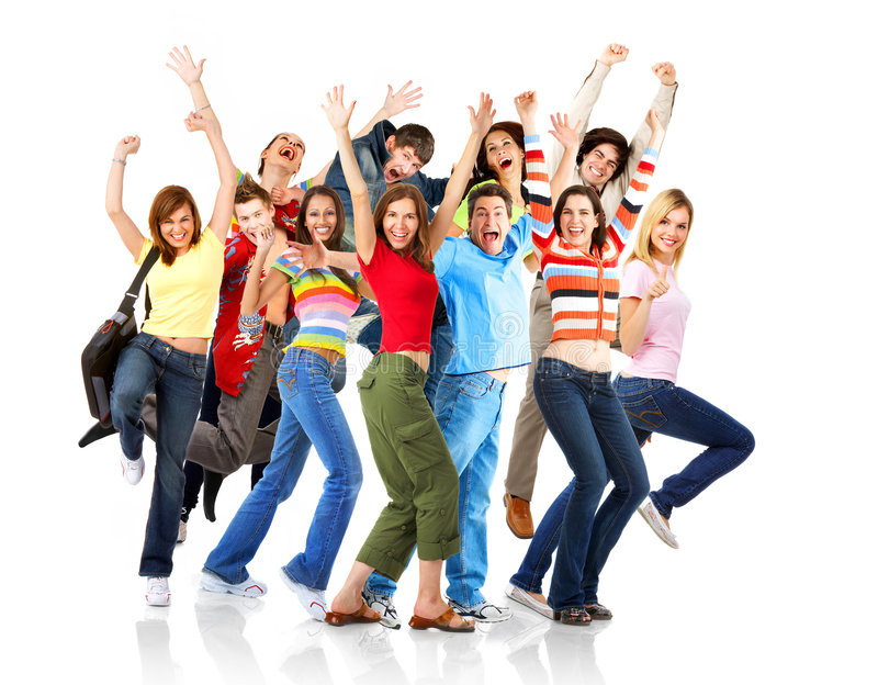 Happy funny people royalty free stock photos