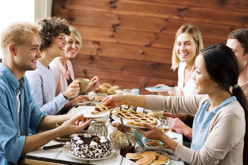 Happy gathering stock photography
