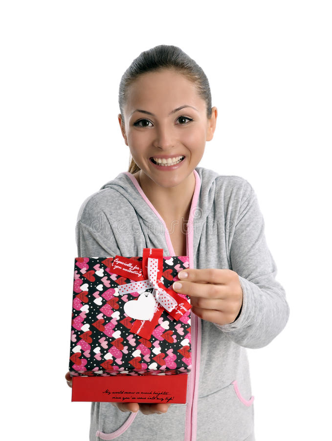 Download Happy Gift Woman Stock Images - Image: 19692954