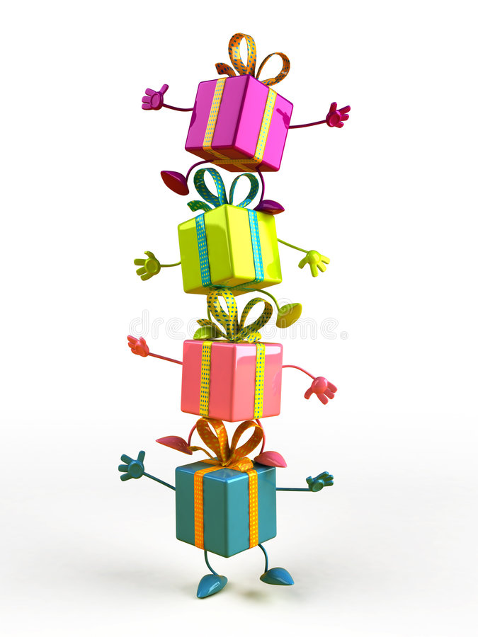 Happy gifts vector illustration