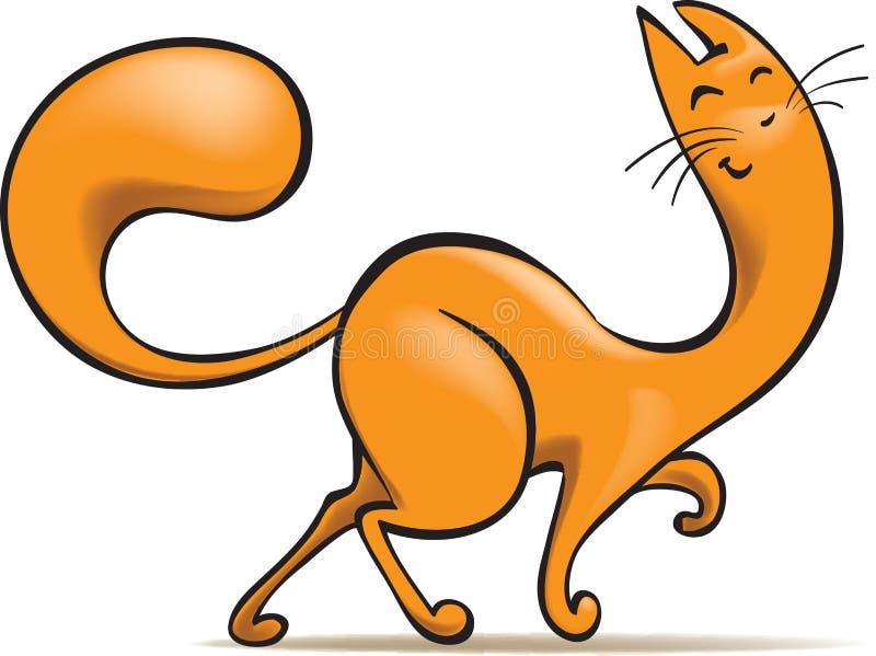 Happy ginger cat royalty free illustration