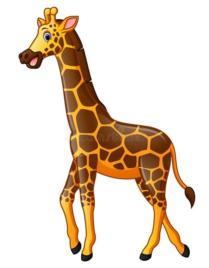 Cartoon Giraffe Sitting In The Jungle Stock Vector Illustration