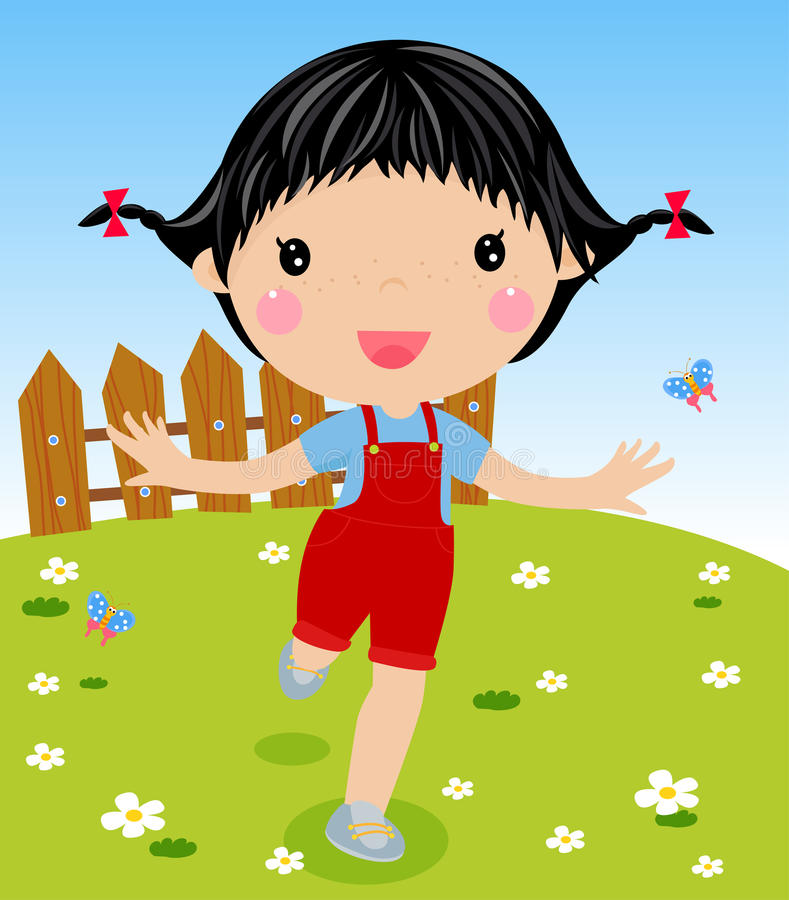 Happy girl stock illustration