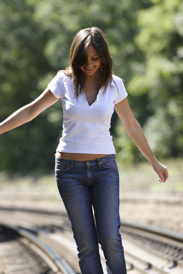 Happy girl. Happy shiny girl royalty free stock images