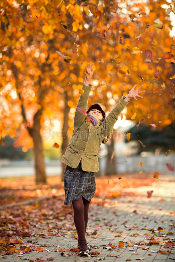 Download Happy girl stock photo. Image of beauty, fall, girl, child - 27511446