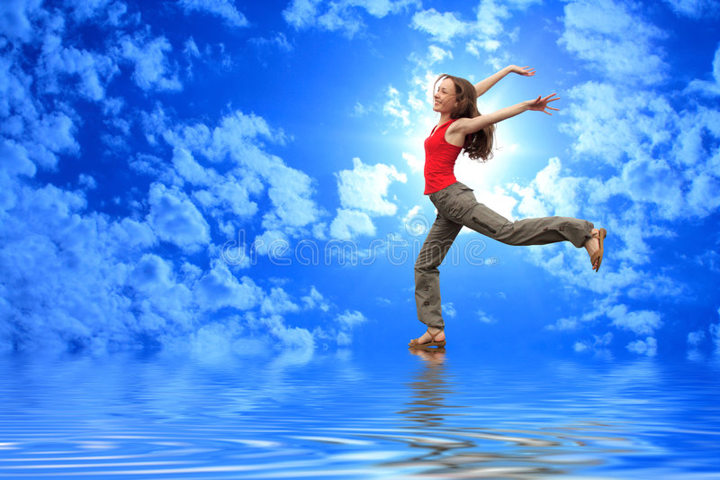 Download Happy girl stock photo. Image of heaven, content, athletic - 5987122