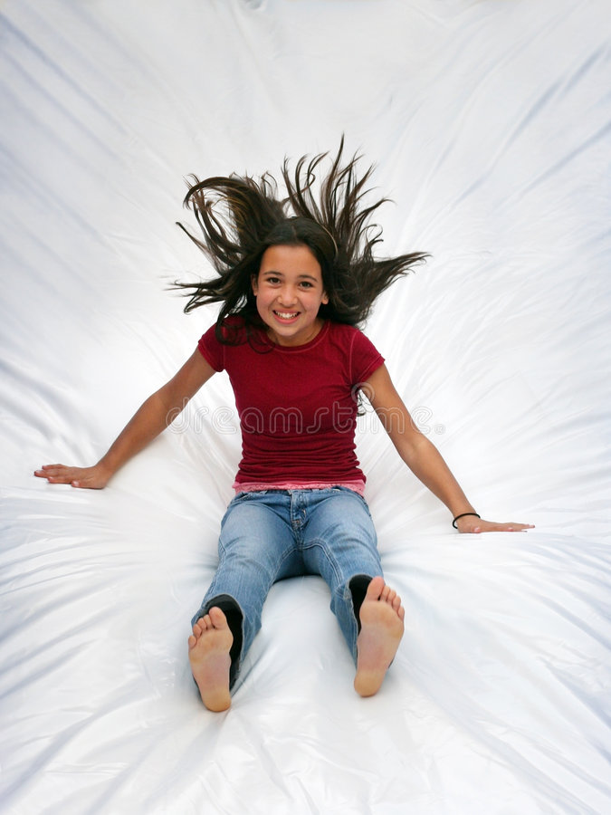 Happy girl stock photography