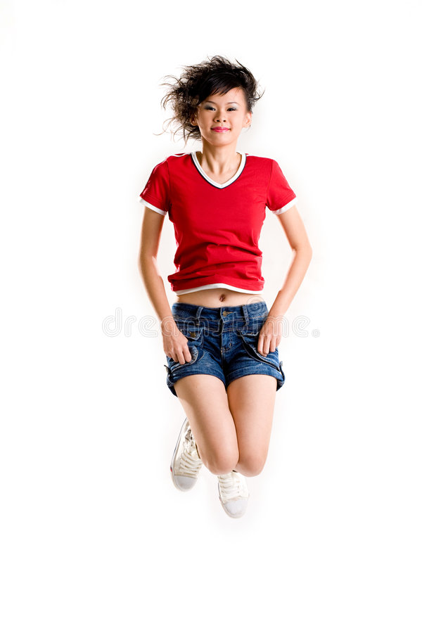 Download Happy Girl Jumping Stock Photography - Image: 4515632
