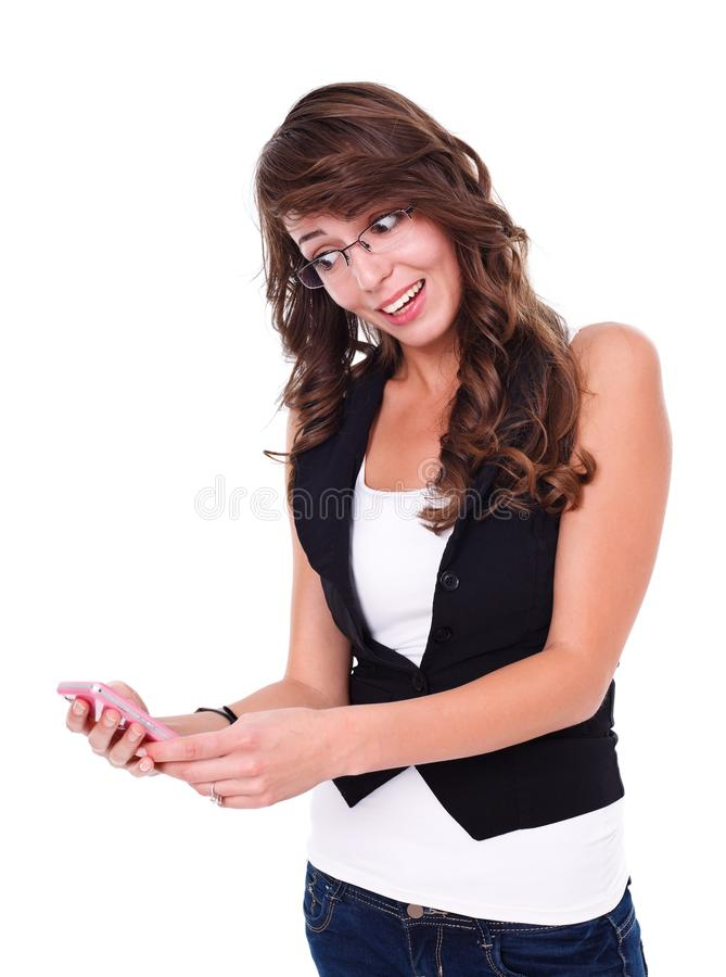 Download Happy Girl With Mobile Phone Stock Image - Image: 29030803