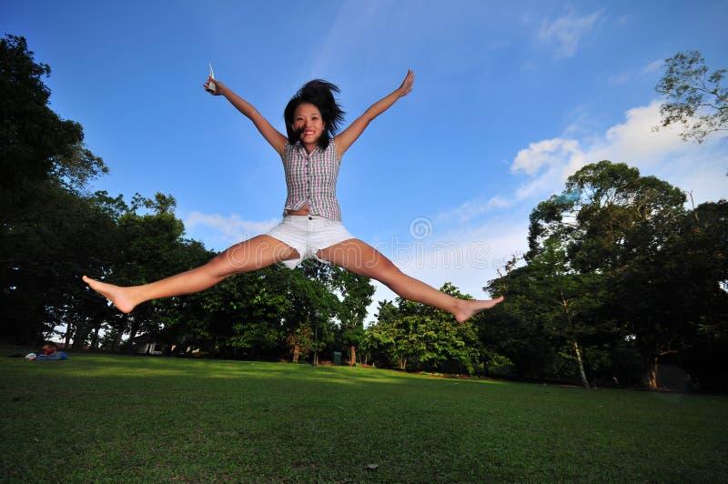 Happy Girl in the Park 2 stock photo