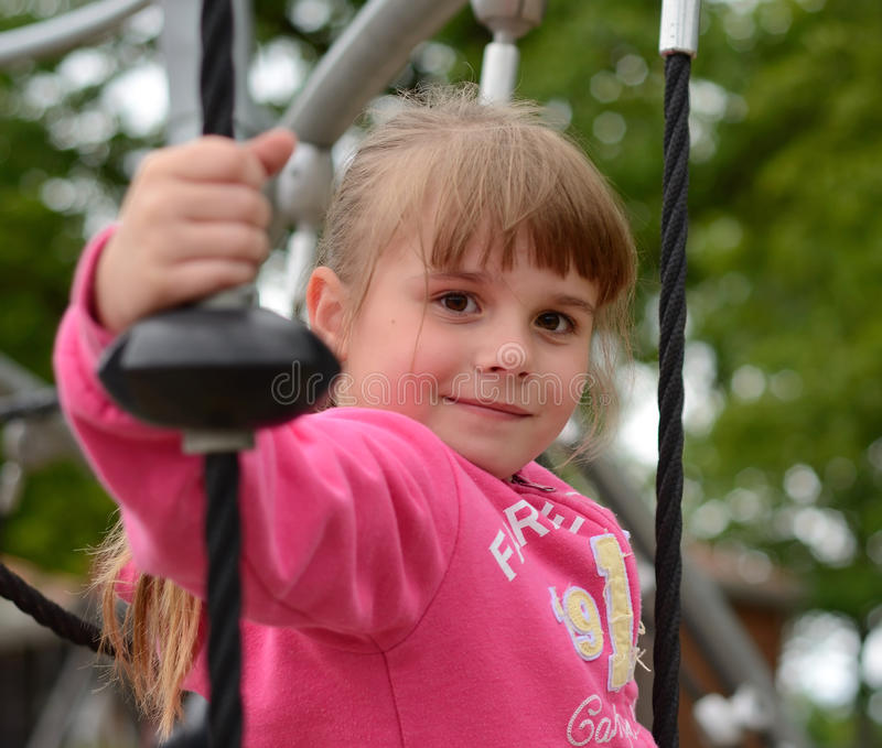 Download Happy Girl On Playground Stock Image - Image: 26168161