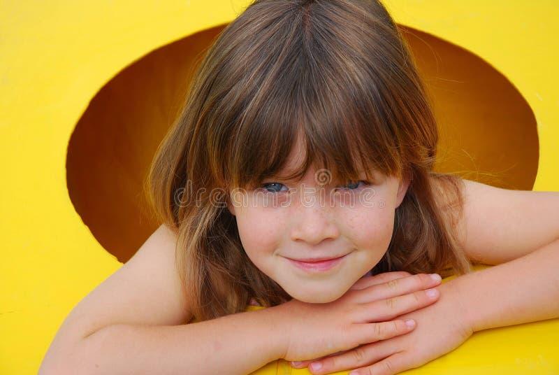 Happy girl portrait royalty free stock photo
