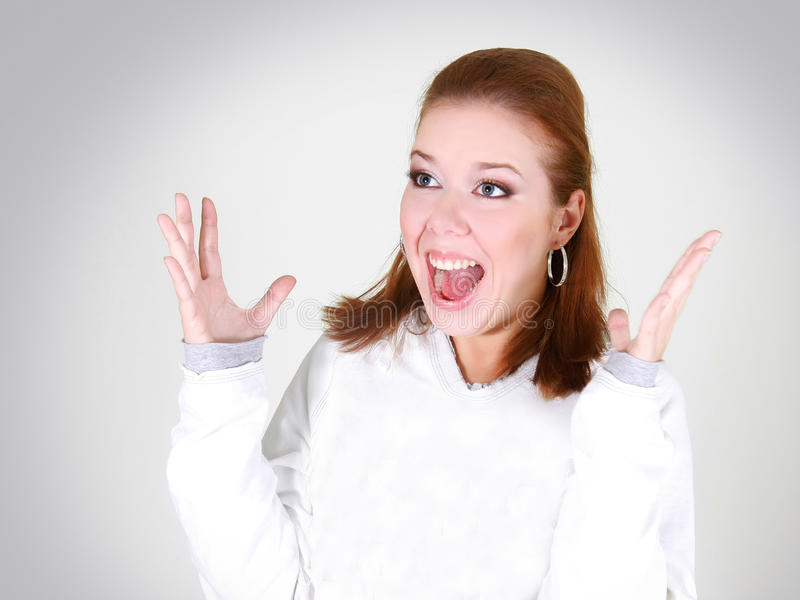 Download Happy girl shouting out stock photo. Image of person - 11613624