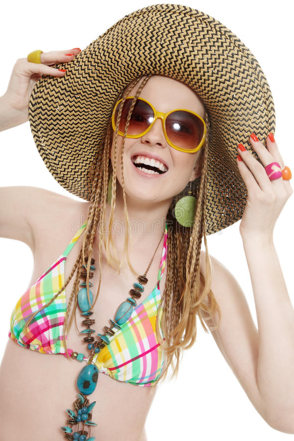 Download Happy girl with sunglasses stock photo. Image of background - 10239770