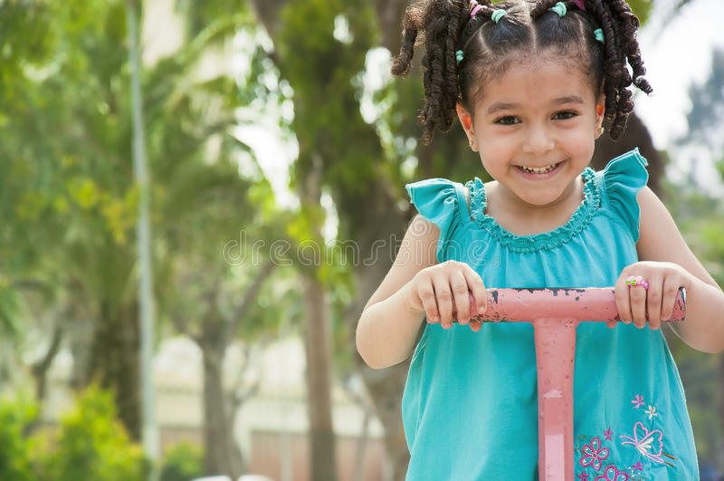 Download Happy Girl on Swing stock image. Image of caucasian, fashionable - 25928611
