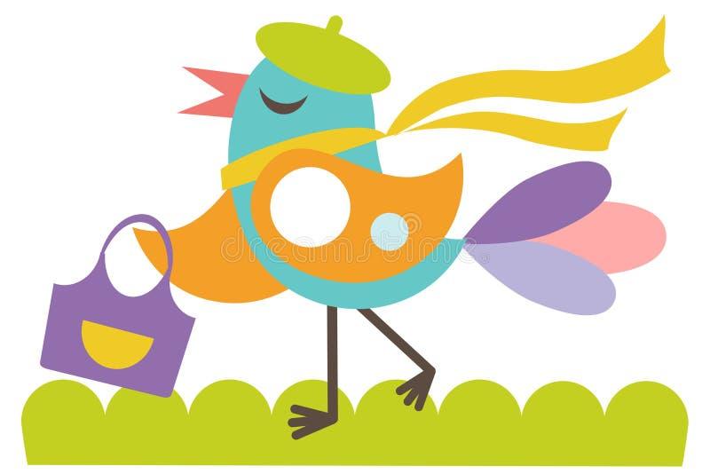 Download Happy girlie bird stock vector. Image of contemporary - 20538691