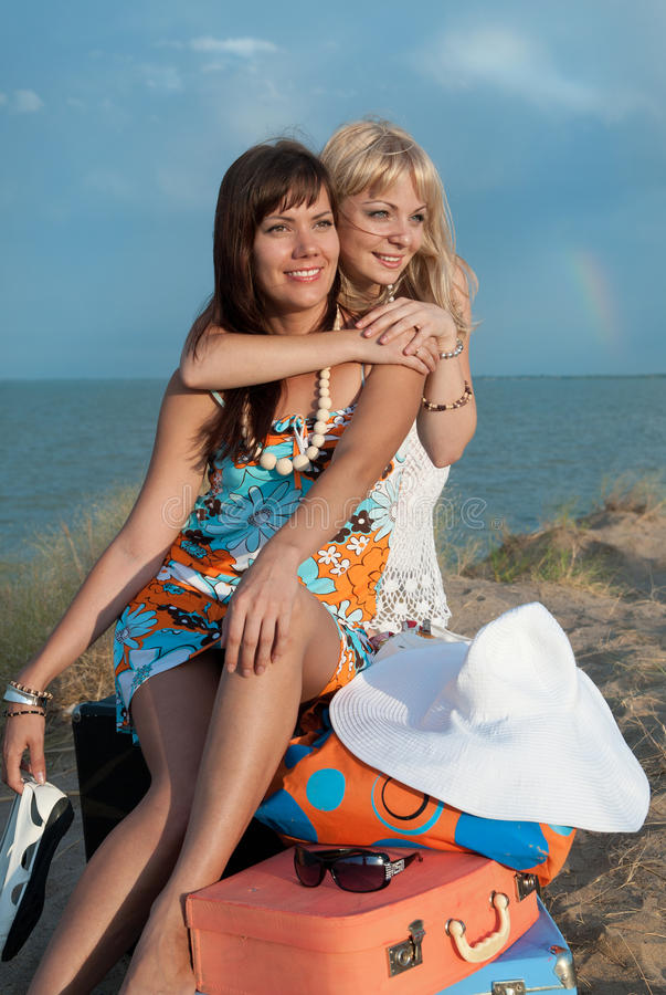Download Happy Girls On The Beach Stock Photo - Image: 18463600