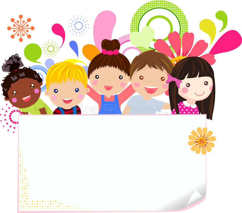 Download Happy girls and boys stock vector. Image of healthy, illustration - 30773176