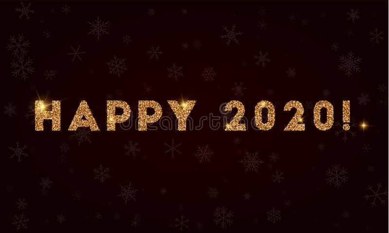 Happy 2020!. royalty free illustration