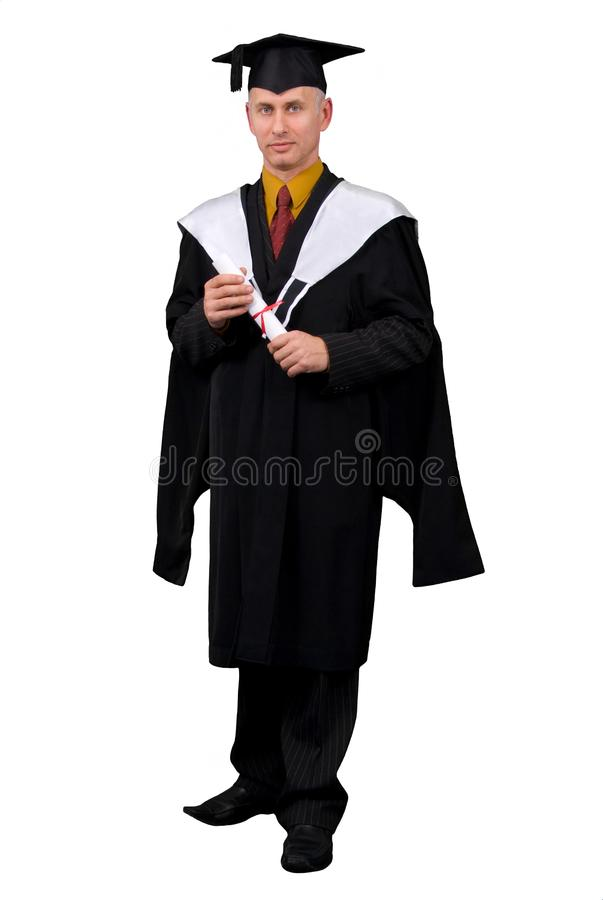 Happy grad stock photography