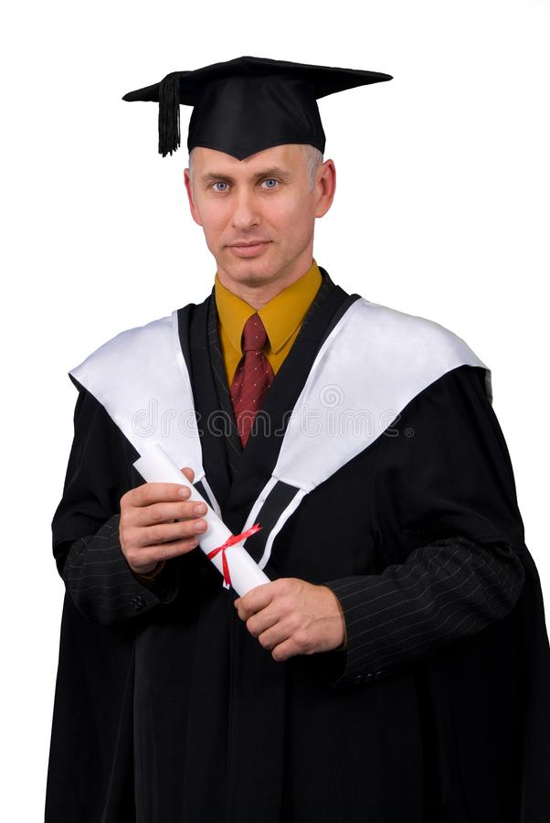 Happy grad royalty free stock photo