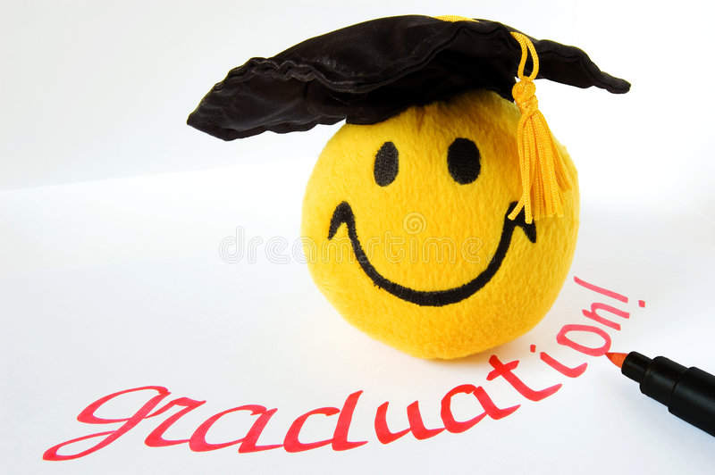Happy grad royalty free stock images
